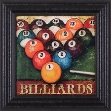 Billiards by Mollie B. Framed Painting Print