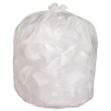 Hvy-Duty 13 Gal. Contractor Trash Bags, White