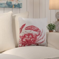 Bayhead Charming Crab Outdoor Throw Pillow