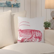 Matunuck Lobster Outdoor Throw Pillow