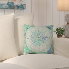 Ivydale Follow Your Own Path Mint Outdoor Throw Pillow