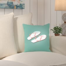 Worthland PalmSprints Flipflops Outdoor Throw Pillow