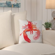 2017 Online Lobster Outdoor Throw Pillow