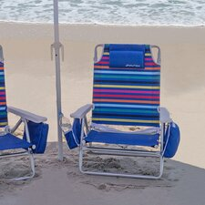 Stripe Beach Chair with Cushions