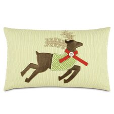 No Copoun Seasonally Chic Reindeer McQueen Indoor/Outdoor Lumbar Pillow