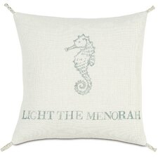 Coastal Tidings Light The Menorah Indoor/Outdoor Throw Pillow
