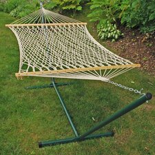 Rope Cotton Hammock with Stand