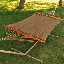 Tight Weave Soft Tan Polyester Rope Tree Hammock