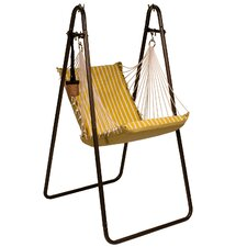 Sunbrella and Polyester Chair Hammock with Stand
