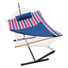 Great price 4 Piece Rope Cotton Hammock with Stand Set