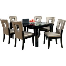 vanderbilte  piece dining set vanderbiltepiecediningset vanderbilte  piece dining set: seven piece dining set