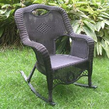 Sale Riviera Wicker Resin Aluminum Large Patio Rocking Chair