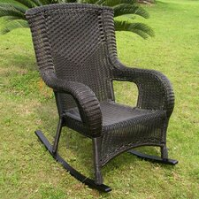 San Tropez Wicker Resin Aluminum High Back Patio Rocking Chair