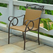 Meetinghouse Wicker Resin Patio Chair (Set of 2)