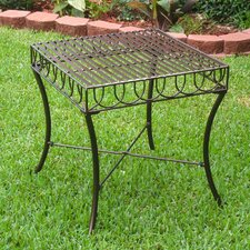 Wonderful Sunray Iron Patio Side Table