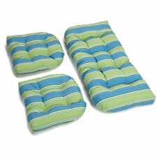 Haliwall Outdoor Loveseat Cushion (Set of 2)