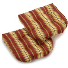 Kingsley Stripe Outdoor Lounge Chair Cushion (Set of 2)