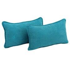 Microsuede Lumbar Pillow (Set of 2)