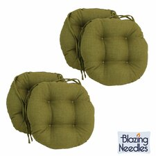 Blazing Needles 16-inch Round Outdoor Chair Cushions (Set of 4)