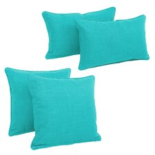 Blazing Needles Soft Home Furnishings 4 Piece Outdoor Throw Pillows Set
