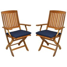 Outdoor Folding Patio Chair Cushion (Set of 2)