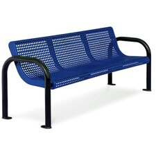 Ultra Perforated Steel Contour Park Bench