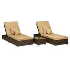Monaco 3 Piece Lounge Seating Group with Cushions