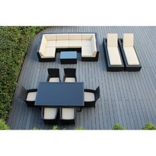 Ohana 16 Piece Seating Dining and Chaise Lounge Set