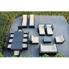 Ohana 20 Piece Seating Dining and Chaise Lounge Set