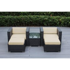Ohana 5 Piece Deep Seating Set with Cushion