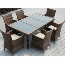 Ohana 7 Piece Dining Set with Cushions