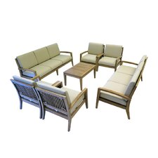 Ohana Teak 7 Piece Deep Seating Group with Cushion