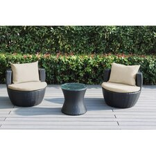 Ohana 3 Piece Deep Seating Group with Cushion