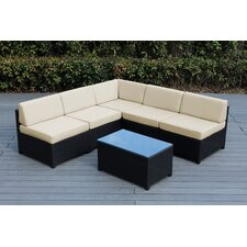 Mezzo 6 Piece Deep Seating Group with Cushion