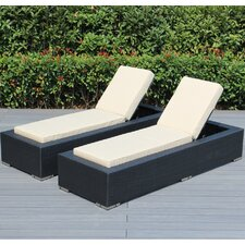 Ohana Sunbrella Chaise Lounge with Cushion (Set of 2)