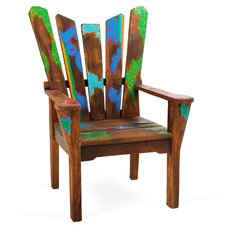 Dock Holiday Reclaimed Wood Arm Chair