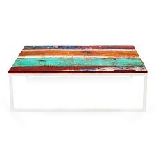 Lovely Oceanic Reclaimed Wood Coffee Table