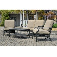 Prescott 4 Piece Deep Seating Group with Cushion