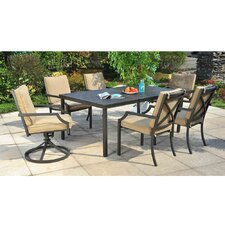 Prescott 7 Piece Dining Set with Cushions