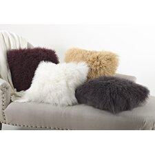 Becky Mongolian Lamb Fur Wool Throw Pillow