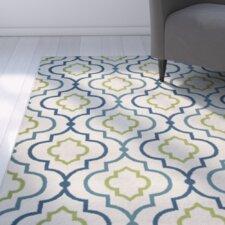 Lucia Ivory/Green/Navy Blue Indoor/Outdoor Area Rug