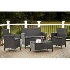 Today Sale Only Amber 4 Piece Seating Group with Cushions