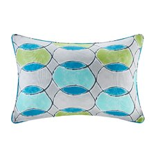 Dahlia Printed Circles 3M Scotchgard Outdoor Oblong Lumbar Pillow