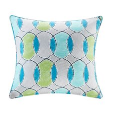 Dahlia Printed Circles 3M Scotchgard Outdoor Square Throw Pillow