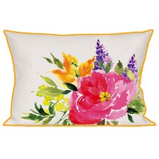 Ramona Watercolor Flower Indoor/Outdoor Lumbar Pillow