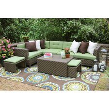 Hampton 8 Piece Sectional Seating Group with Cushions