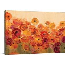 'Summer Poppies' by Silvia Vassileva Painting Print on Canvas