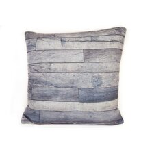 Wood Linen Throw Pillow