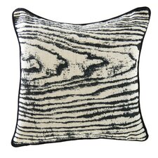 Woodgrain Linen Throw Pillow