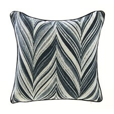 Find Feather Zigzag Linen Throw Pillow